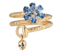 Gucci Flora Ring mit Saphiren