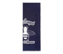 Halstuch aus Wolljacquard mit Biene