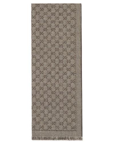 gucci herren schal aus gg jacquard aus wolle reduziert. Black Bedroom Furniture Sets. Home Design Ideas