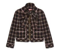 Tweed-Jacke aus Lurex mit abnehmbaren Schal