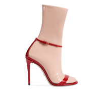 Sandale mit abnehmbarem Strumpf aus Latex