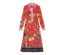 Kleid aus Seide mit Patchwork-Print