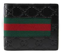 Brieftasche mit Ausweisfach aus Gucci Signature mit Webstreifen