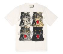 T-Shirt aus Baumwolle mit Tigergesicht