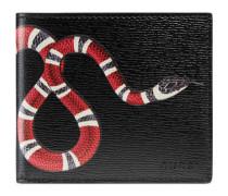 Brieftasche aus Leder mit Schlangenprint