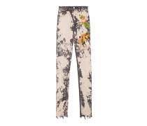 Eng anliegende Hose aus Stretch-Jeansstoff