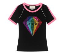 T-Shirt aus Baumwolle mit Pailletten-Diamant