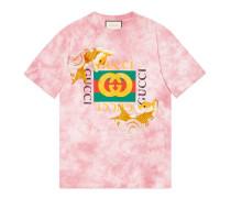T-Shirt aus Baumwolle mit Fisch-Stickerei