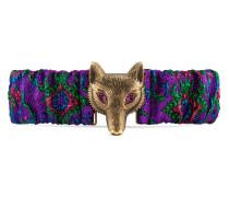 Gürtel aus Blumen-Jacquard mit Fuchs-Schnalle