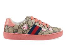 Kinder Low-Top-Sneaker mit GG und Blumen