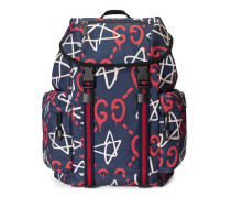 Techpack aus Canvas mit GucciGhost-Print