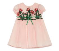 Kinder Kleid aus Seide mit Stickerei