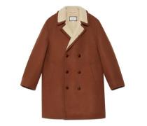 Mantel aus Wolle Mohair mit Stickerei