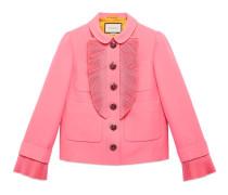 Jacke aus Wolle und Seide mit Faltendetail