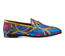 Halbschuh Gucci Jordaan aus Jacquard mit Blumenmotiv
