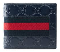 Portemonnaie aus Gucci Signature Leder mit Webstreifen