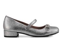 Kinder Schuh aus glänzendem Leder mit Horsebit