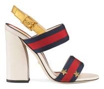Sandale mit Grosgrain-Webstreifen