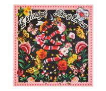 Schal aus Modal und Seidensablé mit Gucci Garden Print