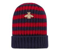 Mütze aus gestreifter Wolle