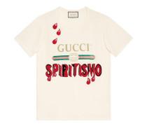 T-Shirt mit Gucci Logo und Stickerei