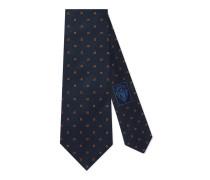 Krawatte aus Seide mit GG Muster und Webstreifen