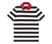 Poloshirt aus Baumwolle mit Schlangen-Stickerei