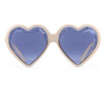 Sonnenbrille mit herzförmigem Rahmen aus Acetat