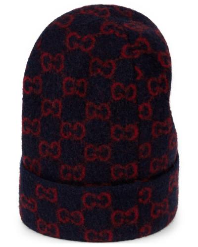 Mütze aus Wolle mit GG Motiv