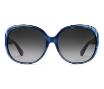Oversize round-frame acetate sunglasses