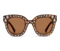 Sonnenbrille in Katzenaugenform aus Azetat