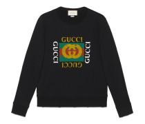Pullover aus Baumwolle mit Logo