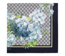 Schal aus Seide mit GG Blumen-Print