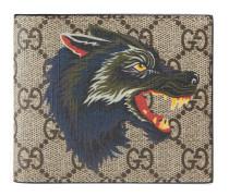 GG Supreme Brieftasche mit Wolf-Print