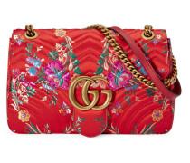 GG Marmont Schultertasche aus Blumen-Jacquard