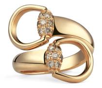 Ring aus Gold mit braunen Diamanten