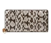 Gucci Nymphaea Brieftasche mit Rundumreißverschluss