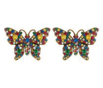 Schmetterling-Ohrringe mit Kristallen