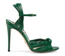 Sandale aus Leder mit Knoten