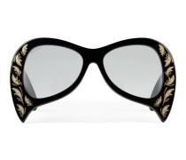 Extragroße Sonnenbrille mit Perlmuttdetails