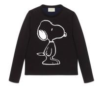 Pullover aus Baumwolle mit Snoopy-Print