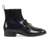Stiefel aus Leder mit Franse und Horsebit