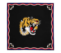 Schal aus Seide und Modal mit Tiger-Print