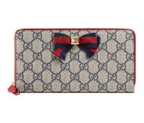 Brieftasche Grosgrain aus GG Supreme mit Rundumreißverschluss