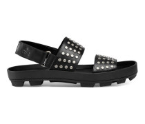 Sandale aus Leder mit Nieten