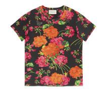 T-Shirt aus Baumwolle mit Acid Blooms Print