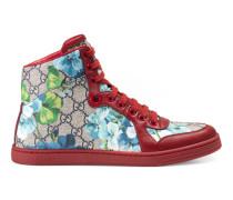 Hoher Sneaker mit GG Blüten-Print