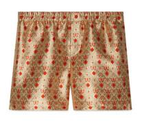 Shorts aus Muschel-Jacquard