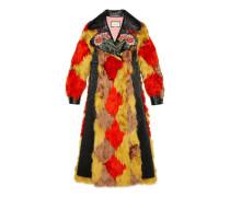 Mantel aus Alpaka mit Diamant-Intarsie