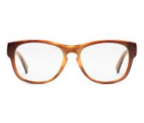 Orangefarbene gestreifte Brille